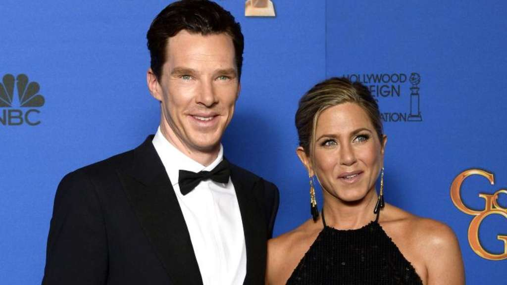 Benedict Cumberbatch und Jennifer Anniston bei den Golden Globes. Foto: Paul Buck