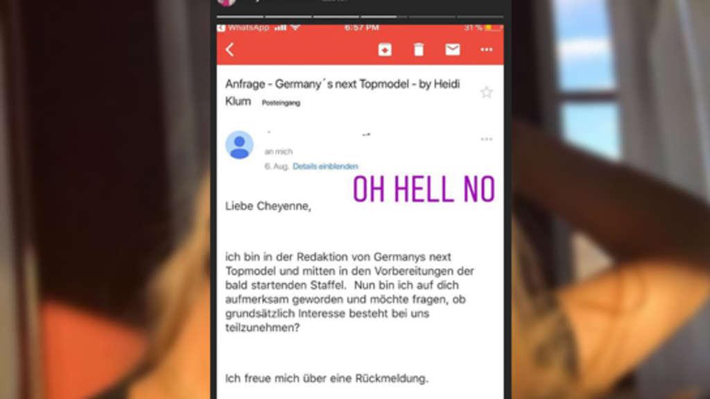 Cheyenne Ochsenknecht will nicht zu Heidi Klum