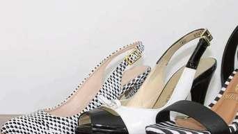 best authentic dfa6e c2f3a Sommerschuh-Mode ist schwarz-weiß, Pastelltöne und allgemein ...