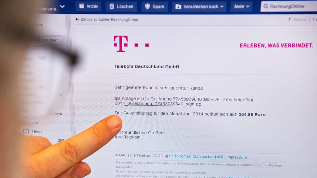 Phishing E-Mail, Telekom