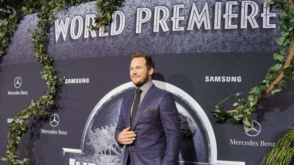"Der Dino-Experte: Chris Pratt bei der Weltpremiere von ""Jurassic World"" in Hollywood. Foto: Nina Prommer"