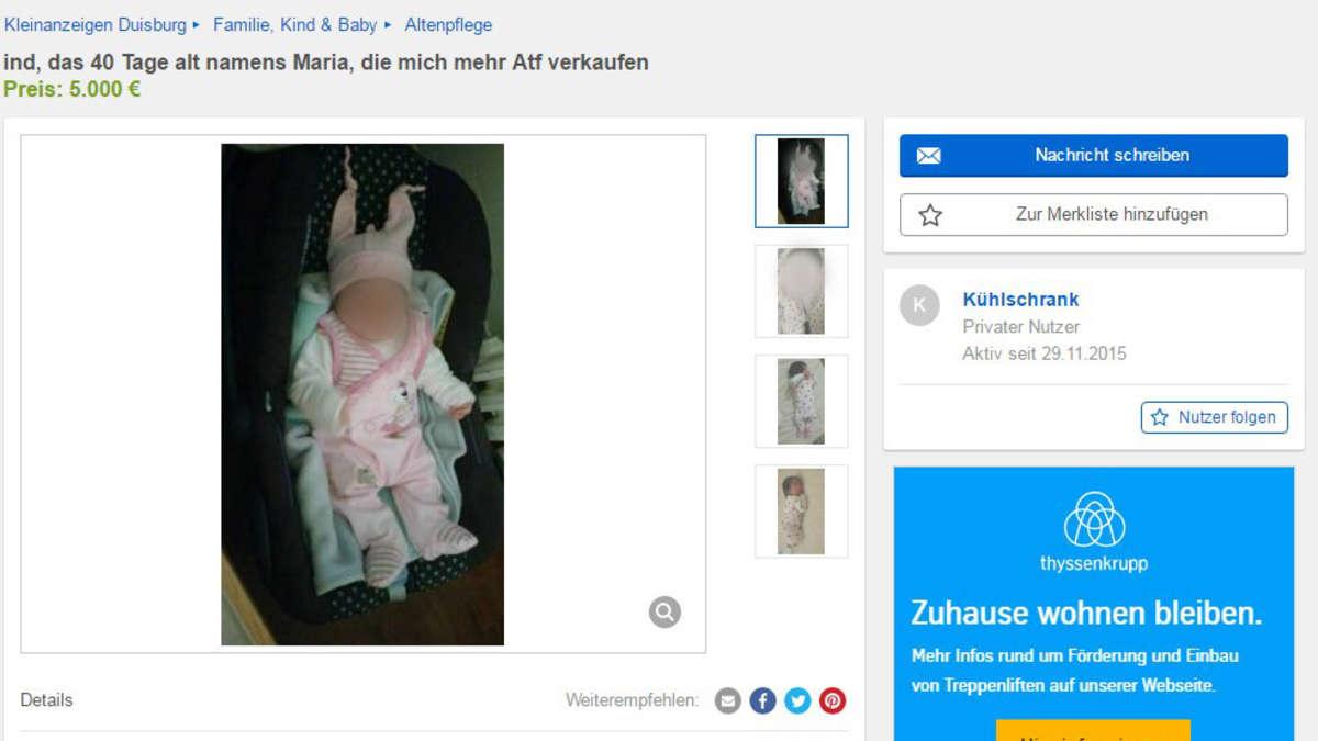 baby angebot bei ebay verfahren gegen vater eingestellt welt. Black Bedroom Furniture Sets. Home Design Ideas