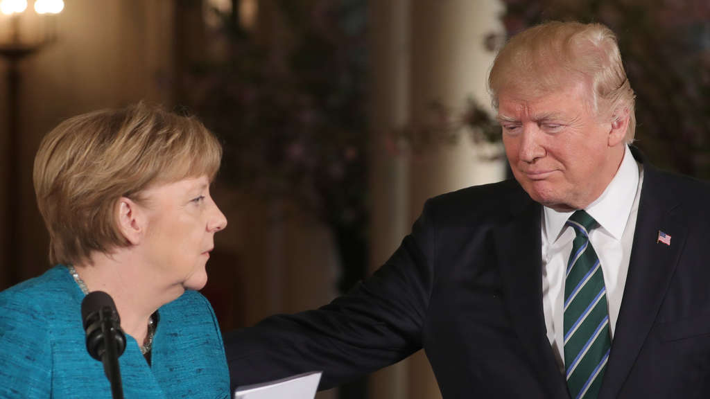 Angela Merkel und Donald Trump in Washington.