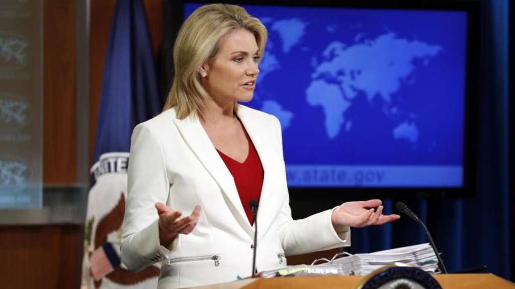 Heather Nauert, Sprecherin des US-Außenministeriums. Foto: Alex Brandon