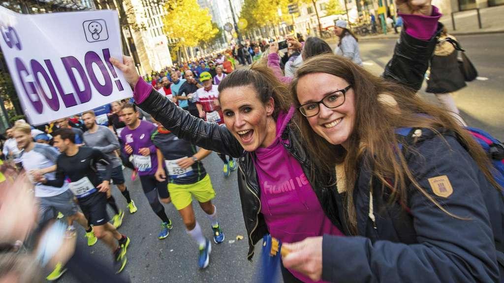 Das Programm Entlang Der Strecke Vom Frankfurt Marathon 2017 Am