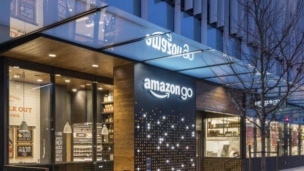"Der ""Amazon Go""-Store in Seattle, USA. Der Supermarkt funktioniert ohne Kassen. Foto: Amazon/AP"