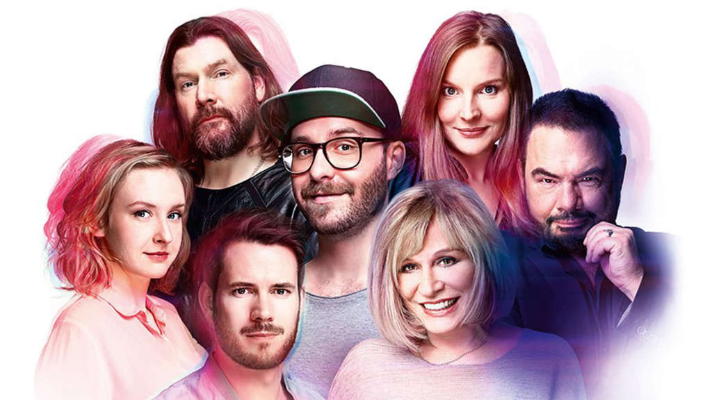 Mark Forster, Mary Roos, Rea Garvey, Judith Holofernes, Johannes Strate, Marian Gold und Leslie Clio