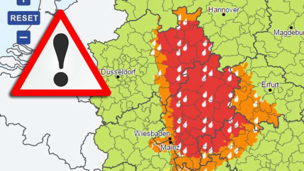 Gewitter Unwetterwarnung Hessen