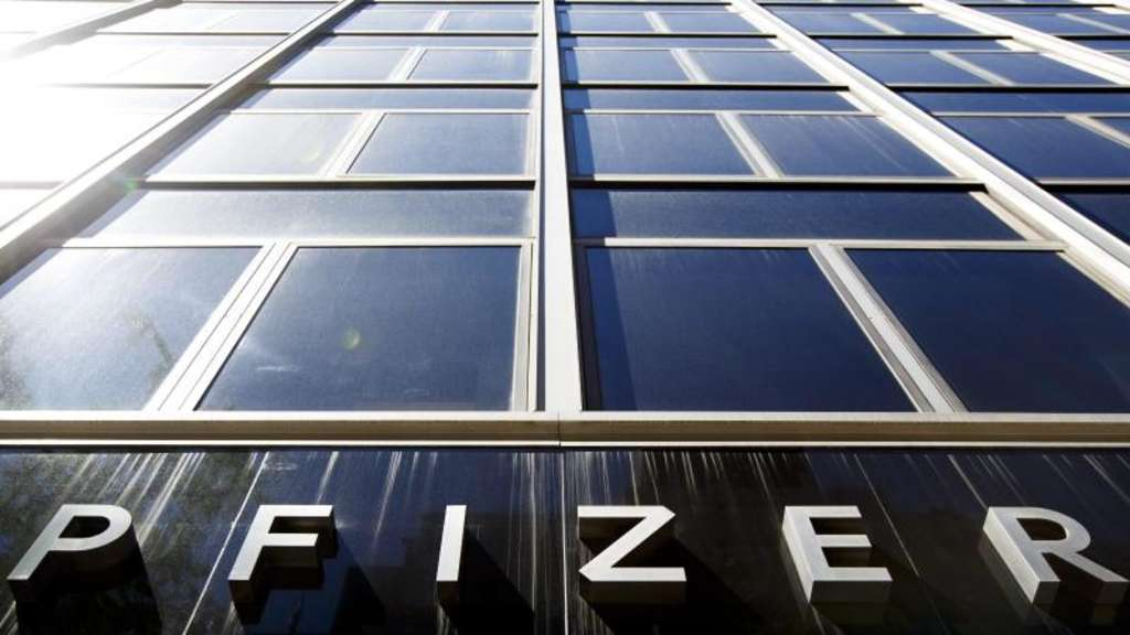 Die Pfizer-Zentrale in New York. Foto: Justin Lane/EPA