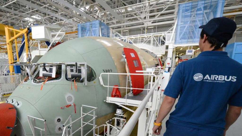 Produktion bei Airbus in Toulouse. Foto: Caroline Blumberg/epa/Archiv