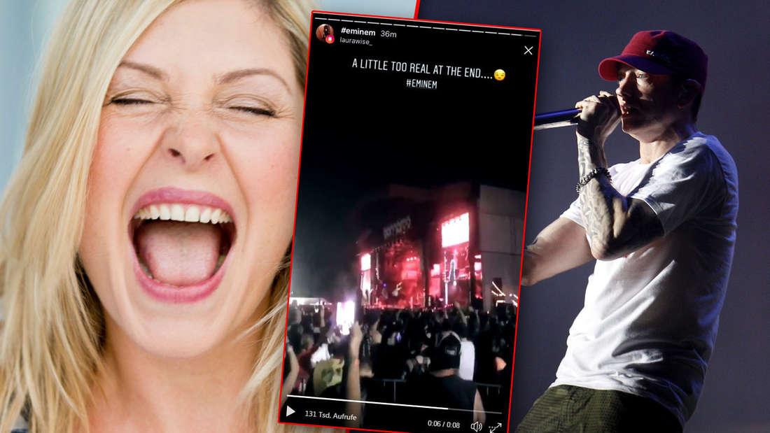 """Eminem-Fans in Panik beim Festival 2018"""" in Manchester:Plötzlich sind Schüsse zu hören!"""