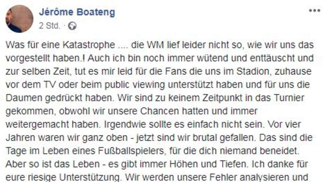 Jerome Boateng auf seinem Facebook.Account vor dem Abflug.