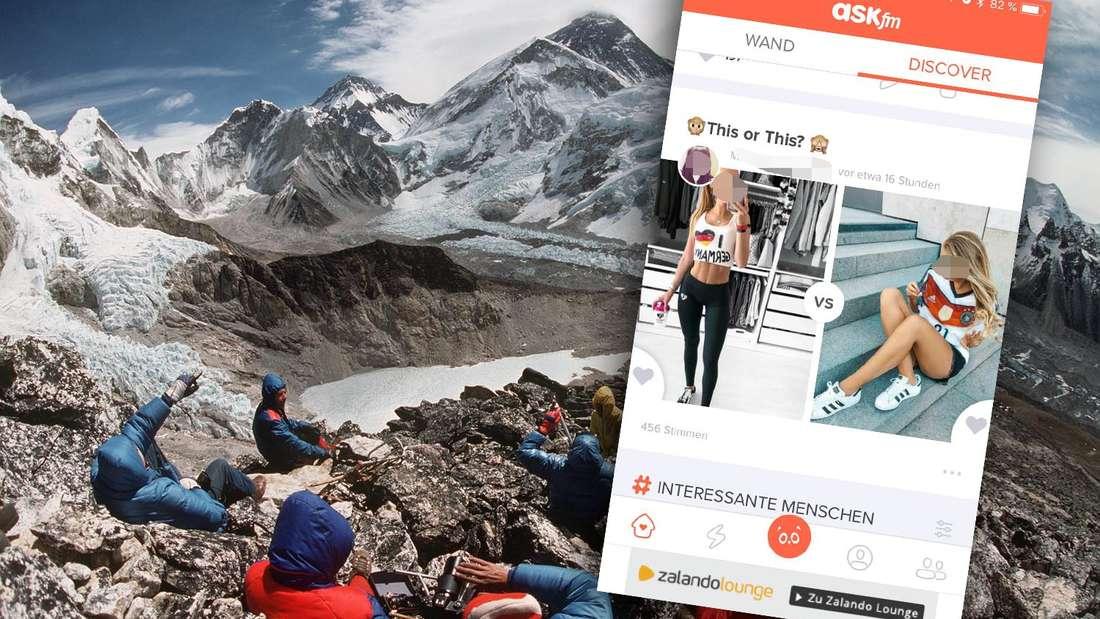 """Die Macher der beliebten Messenger-App """"Ask.fm"""" schickten ein Gruppe für eine PR-Aktion auf den Mount Everest - mit fatalen Folgen."""