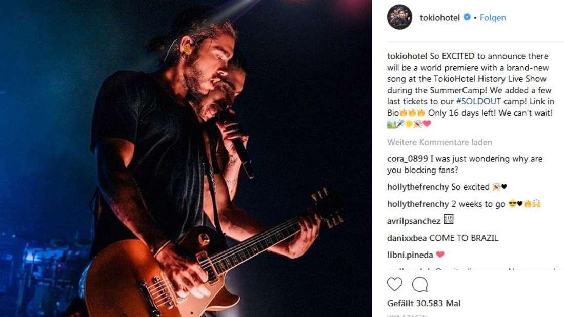 """Ein Kindheitstraum? Tom Kaulitz organisiert mit seiner Band """"Tokio Hotel"""" ein eigenes Sommer Camp."""
