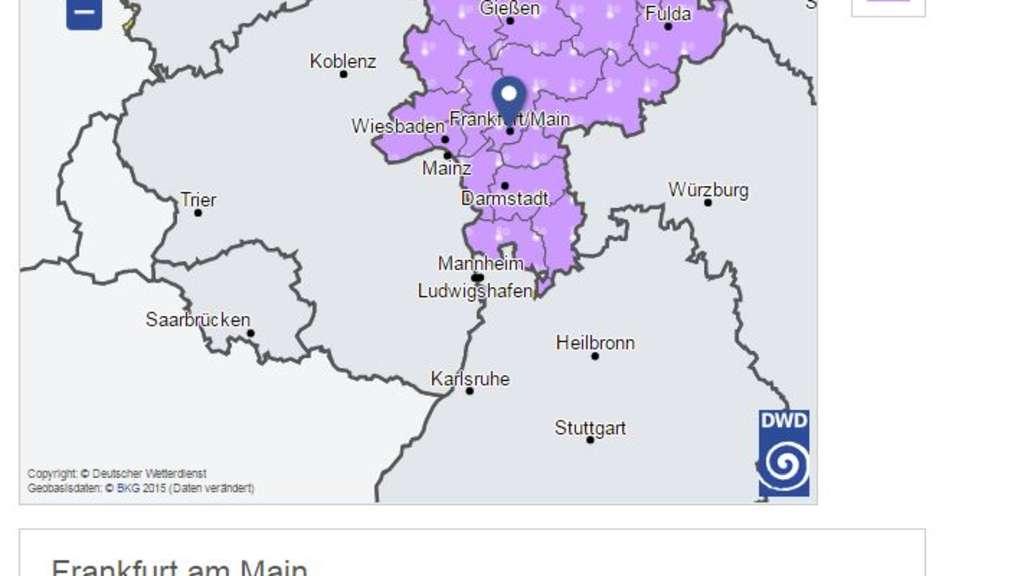 Frankfurt Unwetterwarnung