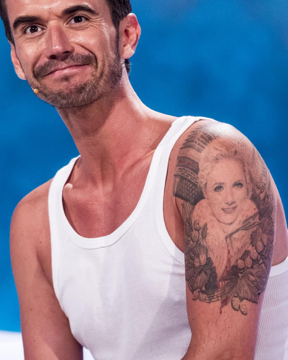 Florian Silbereisen mit Helene-Fischer-Tattoo.