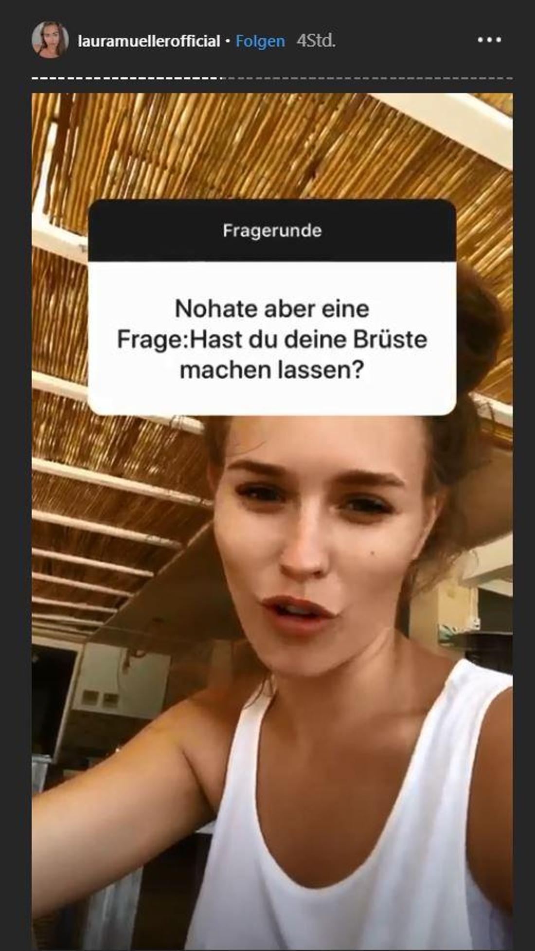 Laura stellt sich bei Instagram den Fragen ihrer Fans.