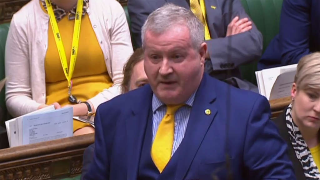 Der starke Mann der Scottish National Party (SNP) in Westminster, Ian Blackford.
