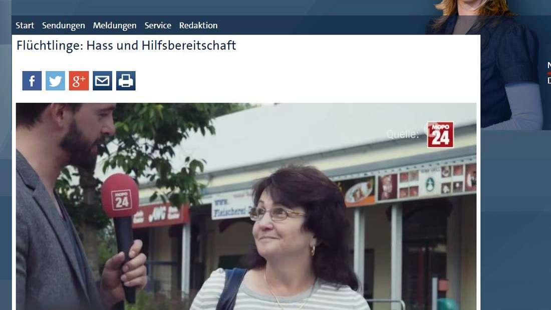 """Für das ARD-Format """"Panorama"""" mit Anja Reschke befragte Matthias Kernstock Menschen aus Sachsen nach ihrer Meinung über Asylbewerber."""