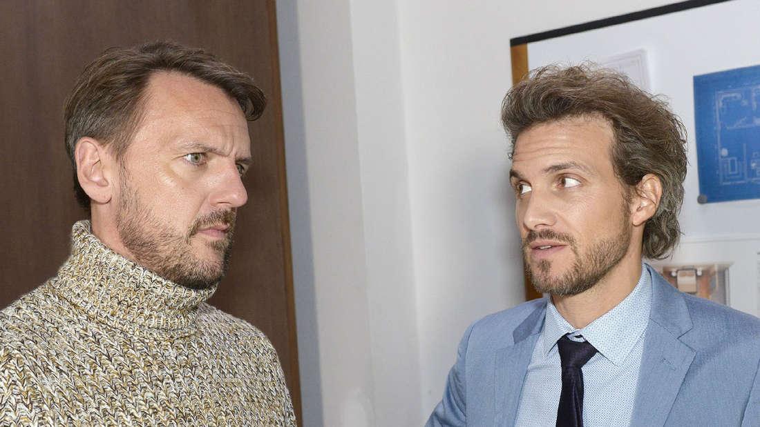 Kein sonderlich beliebter Seriencharakter: Felix Lehmann (Thaddäus Meilinger, rechts).