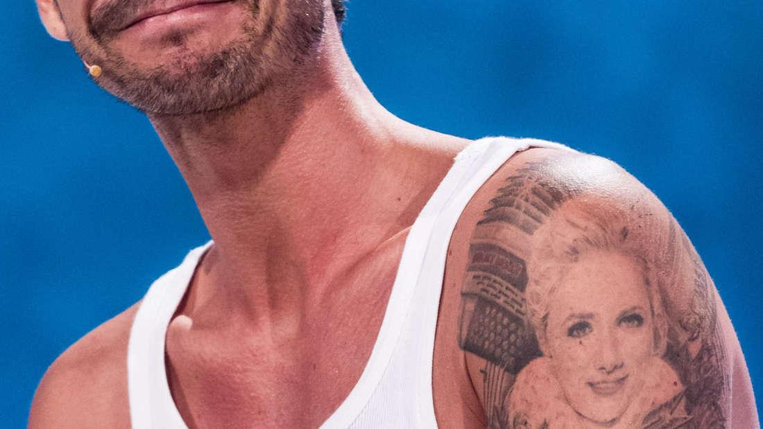 Legendär: Florian Silbereisen mit seinem Helene-Fischer-Tattoo.