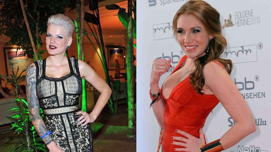 Waren zuerst beim Bachelor, dann im Dschungelcamp: Melanie Müller (li.) und Georgina Fleur.