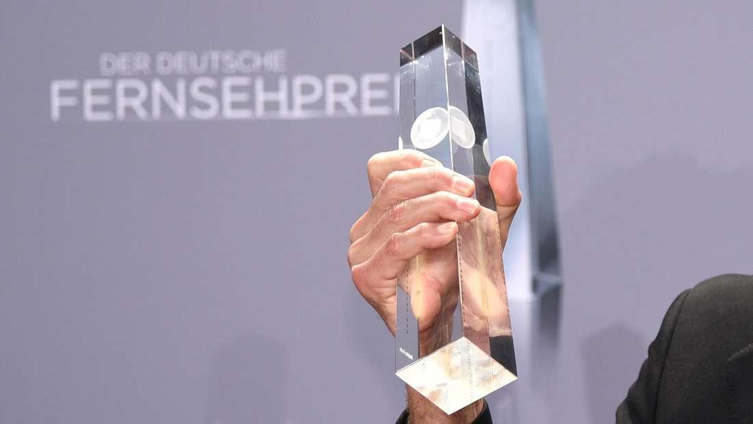 Das ist die Trophäe für den Gewinner des deutschen Fernsehpreises.