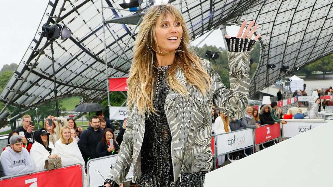 """Heidi Klum bei einem der Castings für """"Germany's Next Topmodel"""" 2020."""