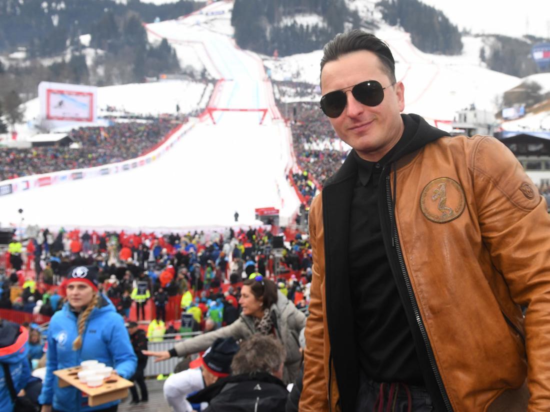 Andreas Gabalier beim Hahnenkammrennen in Kitzbühel.