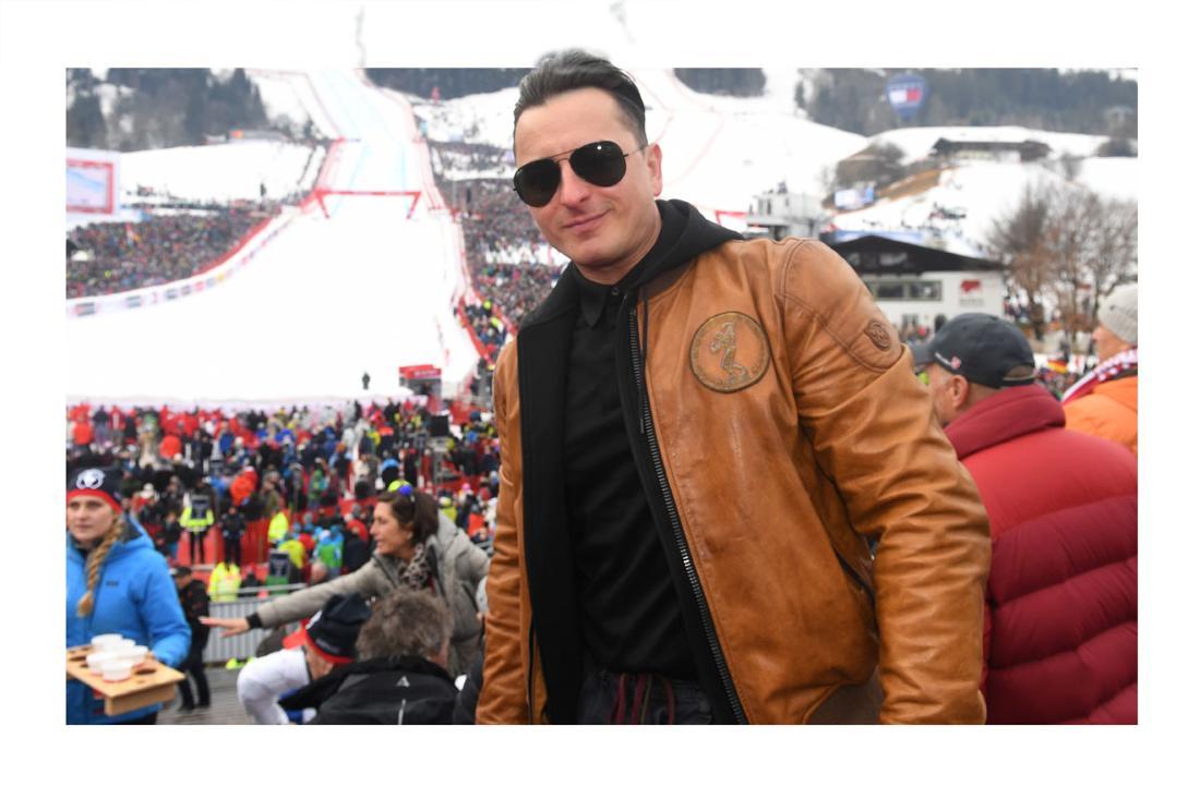 Schlager: Andreas Gabalier beim Hahnenkammabfahrt 2020 in Kitzbühel