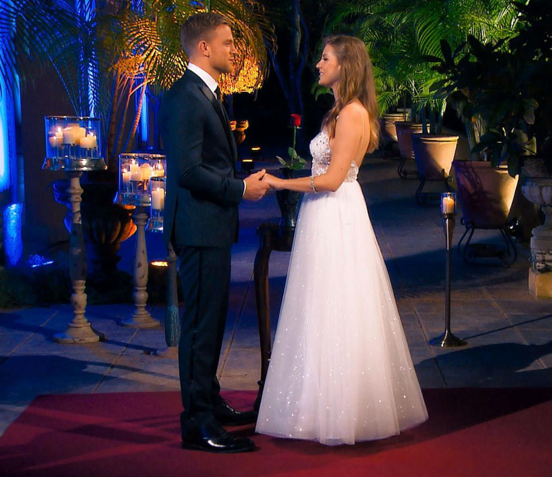 Bachelor Sebastian Preuss und Wioleta im Finale.