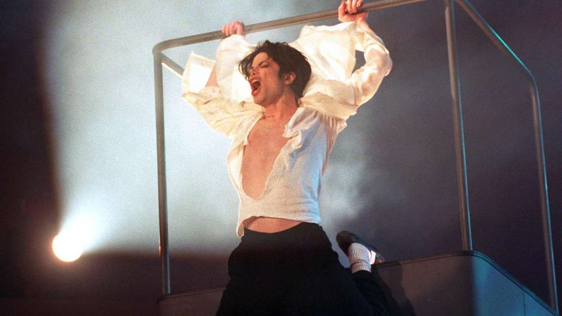 """Michael Jackson bei seinem Auftritt bei """"Wetten Dass..."""" 1995"""