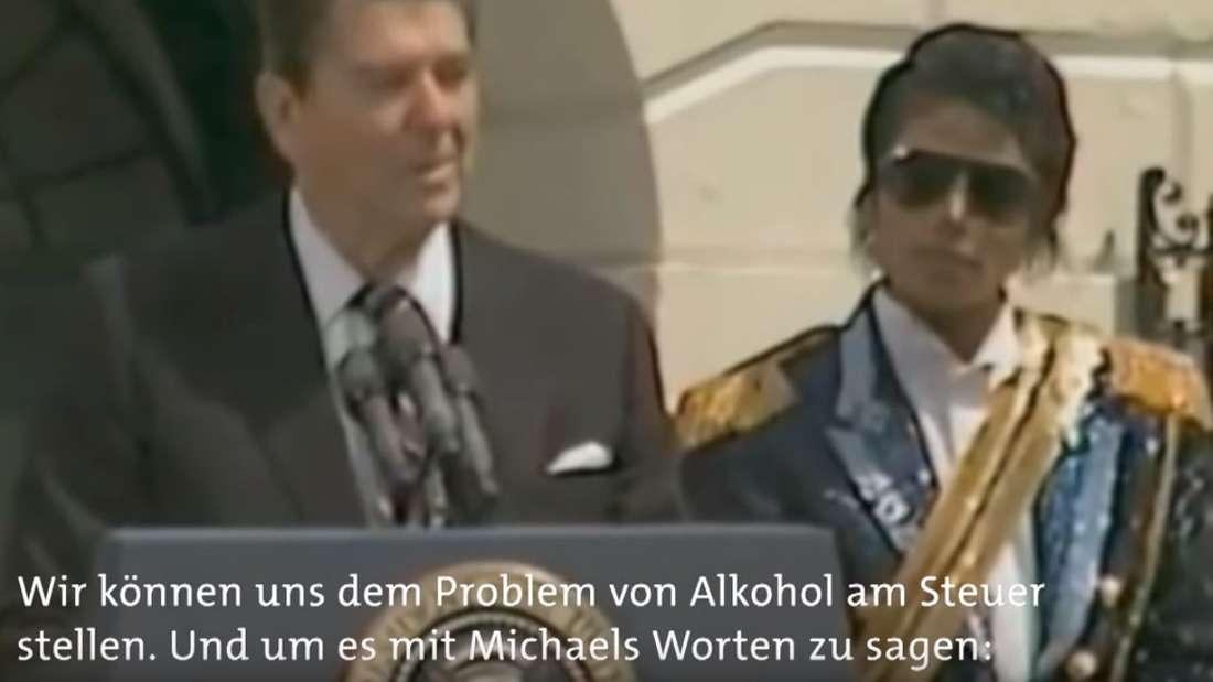 "Der damalige US-Präsident Ronald Reagan zitierte Michael Jacksons Song""Beat it"" in seiner Rede"
