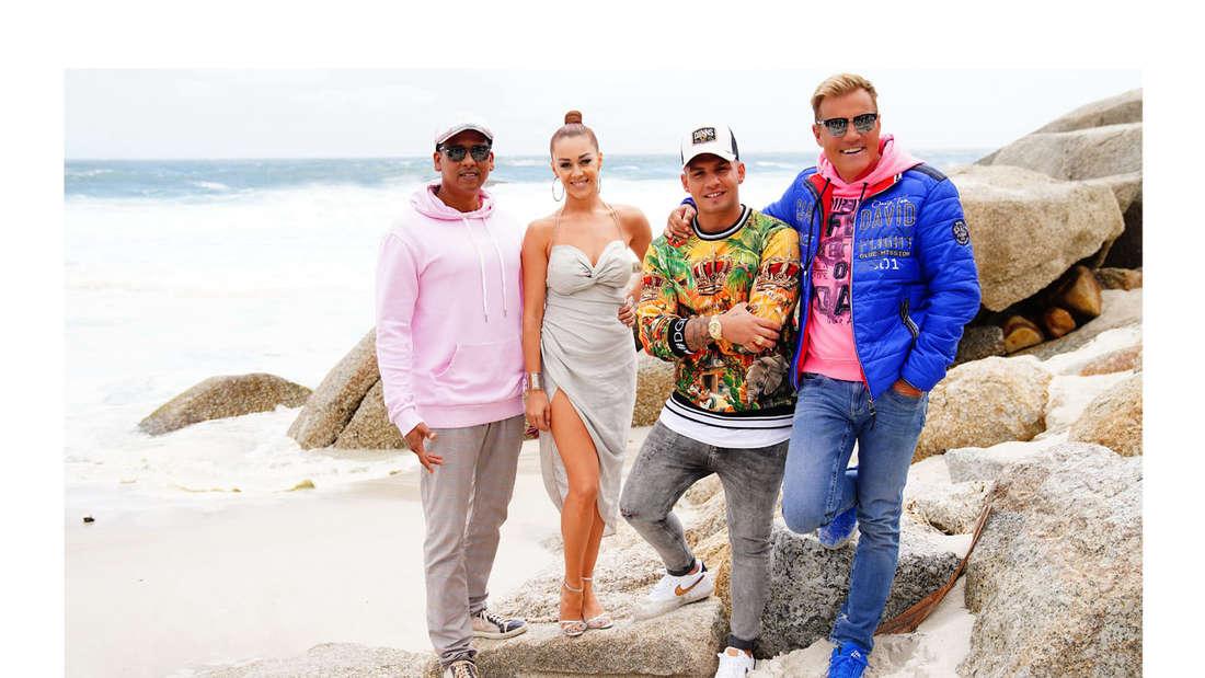 DSDS: Die Juroren am Strand von Kapstadt bei den Dreharbeiten für den Auslandsrecall