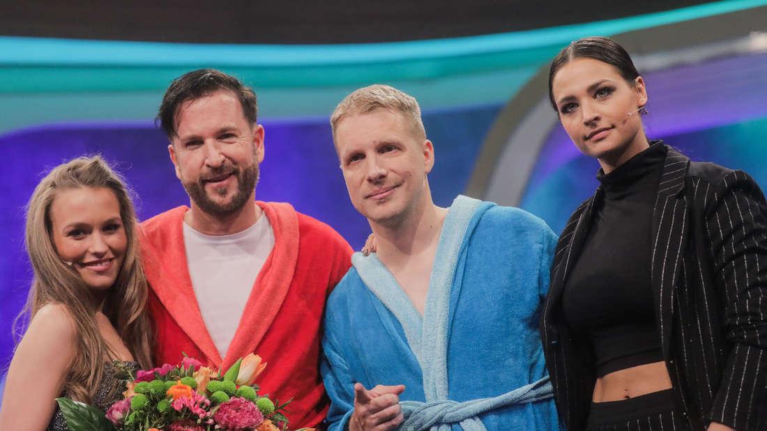 Michael Wendler und Oliver Pocher mit ihren Frauen Laura Müller und Amira Aly.