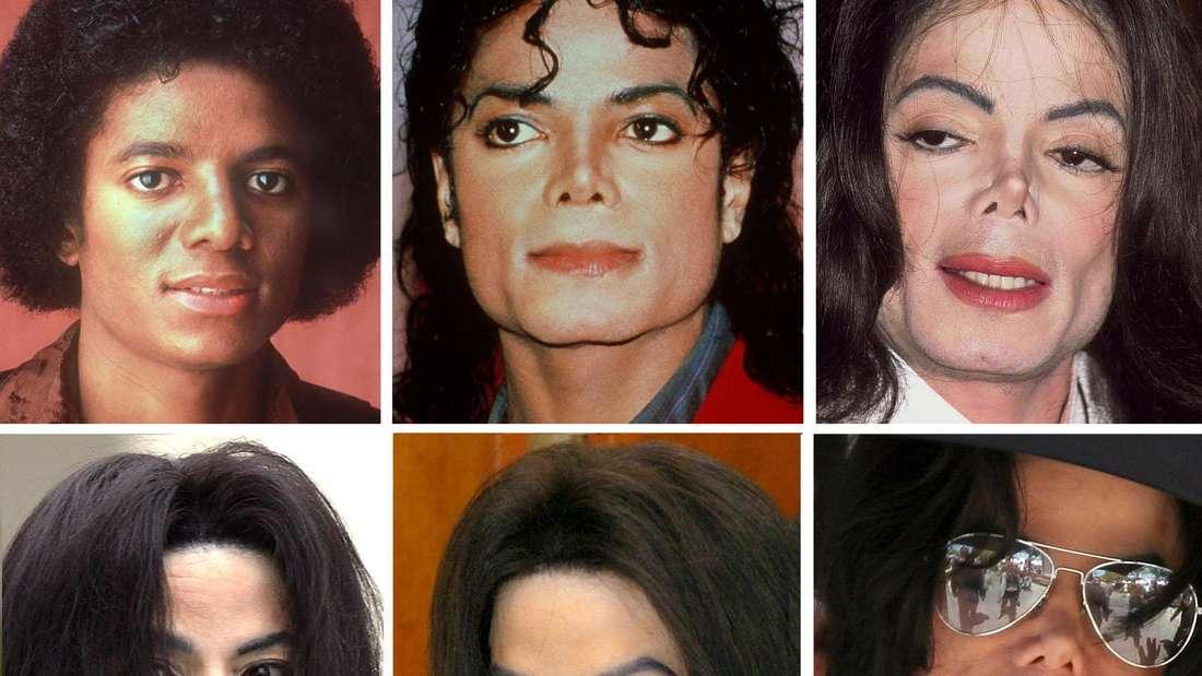 Das Aussehen von Michael Jackson veränderte sich im Laufe der Jahre immer mehr.