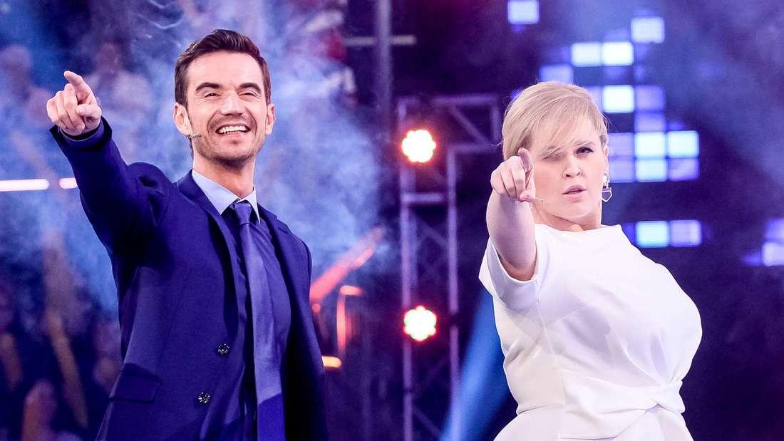 """Florian Silbereisen und Maite Kelly bei """"Die Besten im Frühling"""" live in der ARD."""