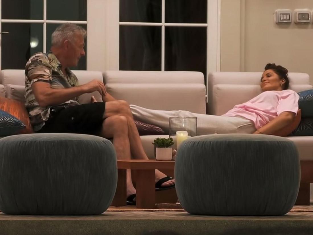 """Wie geht es zwischen Charmeur Ronald Schill und Janine Pink bei """"Promis unter Palmen"""" weiter?"""