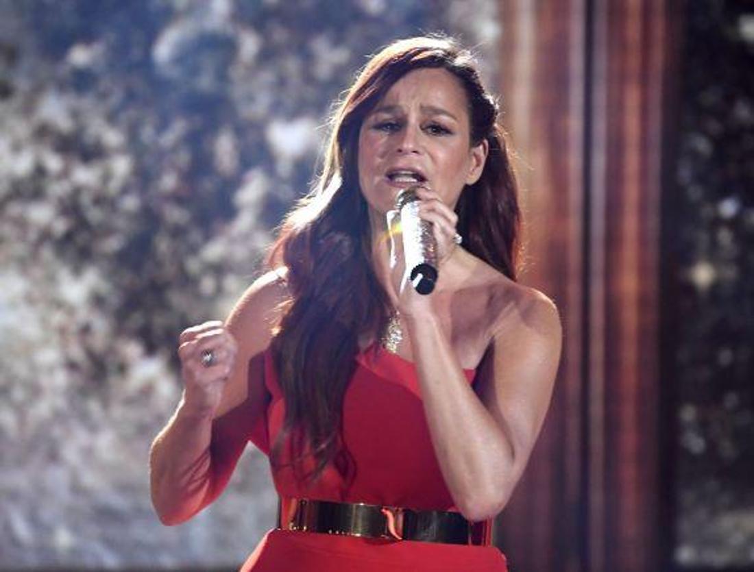 Die Schlagersängerin Andrea Berg bei einem Auftritt im Jahr 2019.