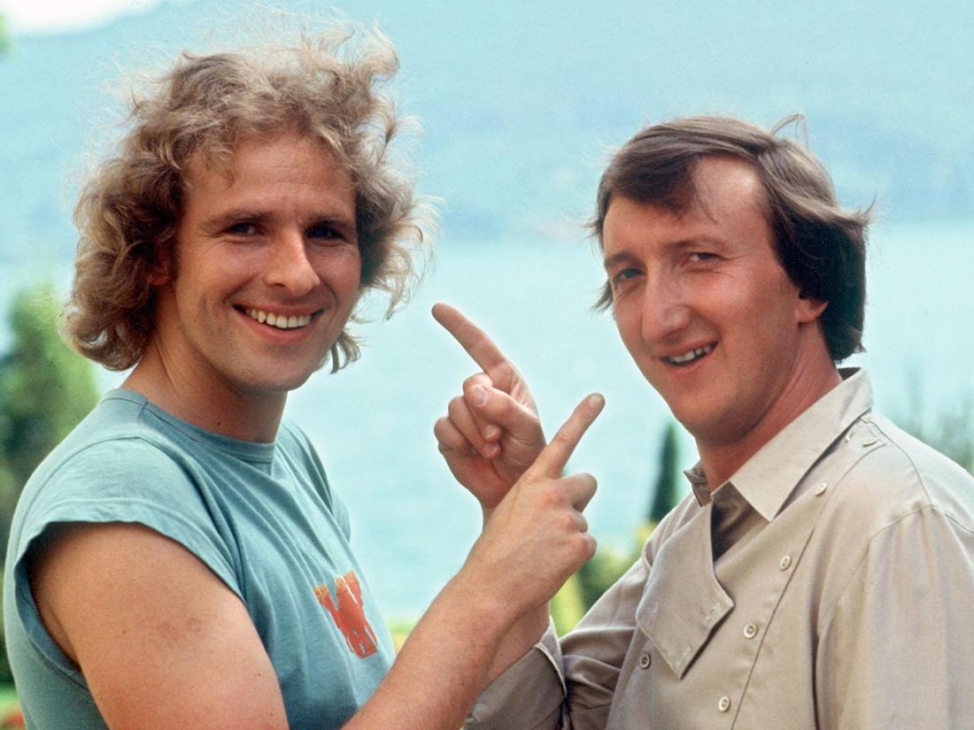 """Thomas Gottschalk und Mike Krüger in """"Die Supernasen"""" aus dem Jahr 1983."""