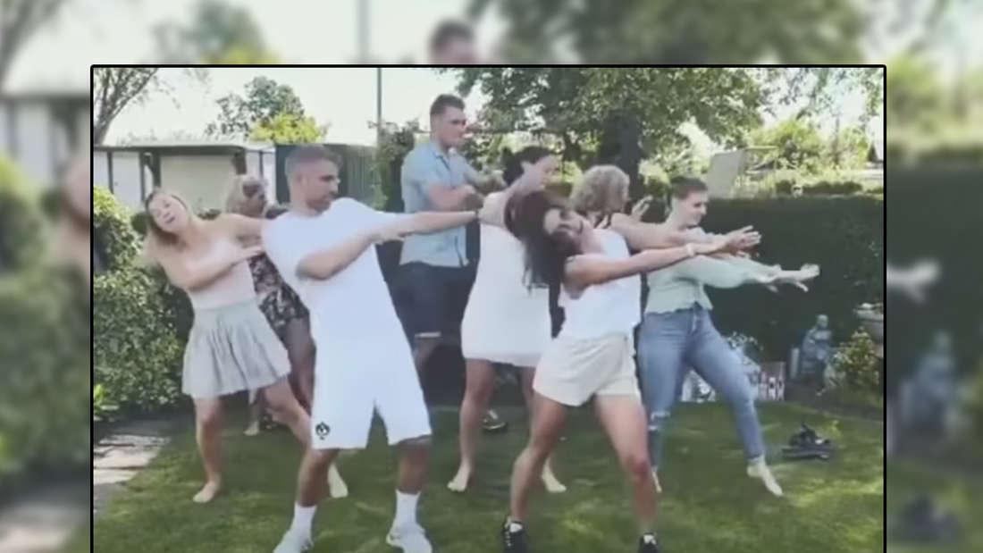 Sarah Lombardi und Julian Büscher tanzen gemeinsam (Fotomontage)