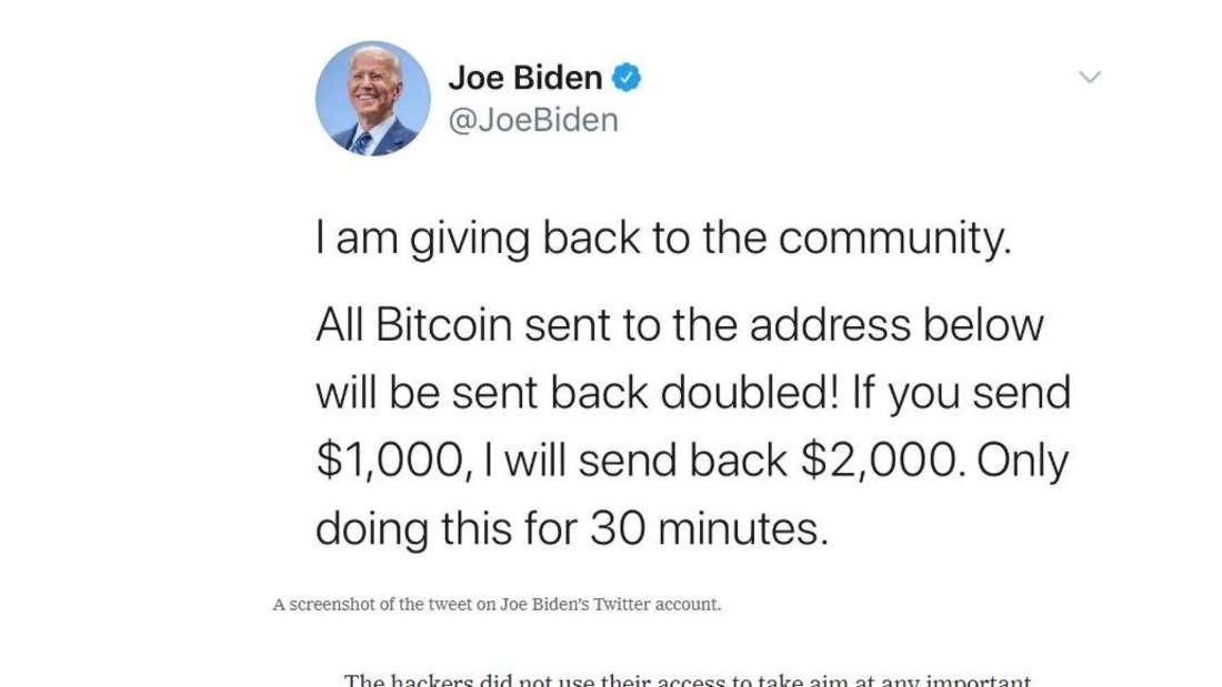 Auch der ehemalige Senator der Vereinigten Staaten, Joe Biden, wurde von dem Hackerangriff bei Twitter getroffen.