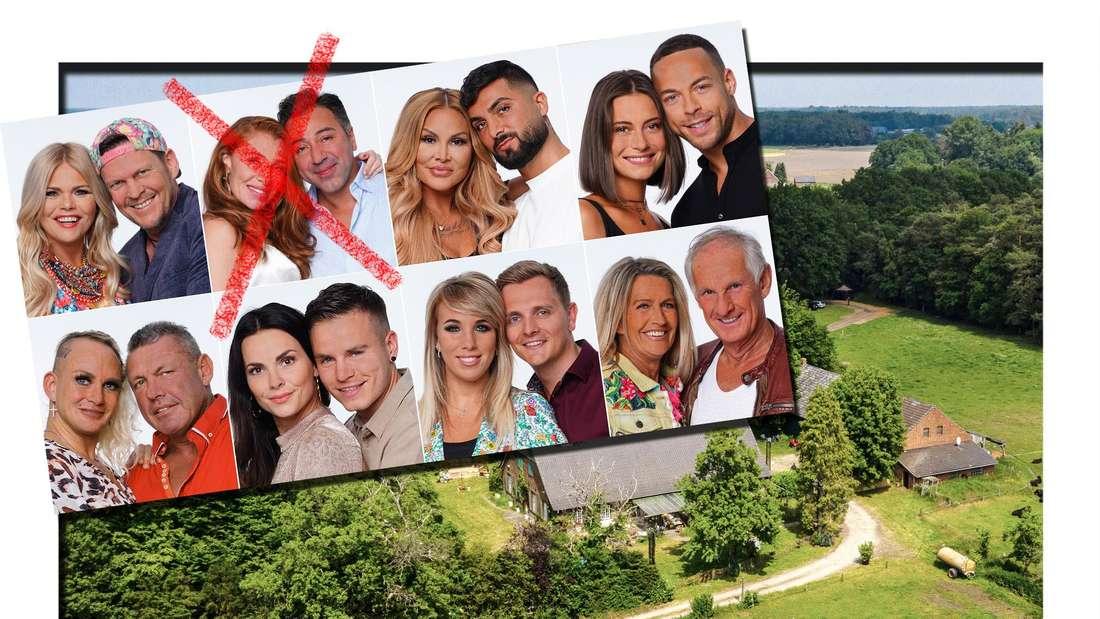 Alle Kandidaten der fünften Staffel Das Sommerhaus der Stars, im Hintergrund der Drehort