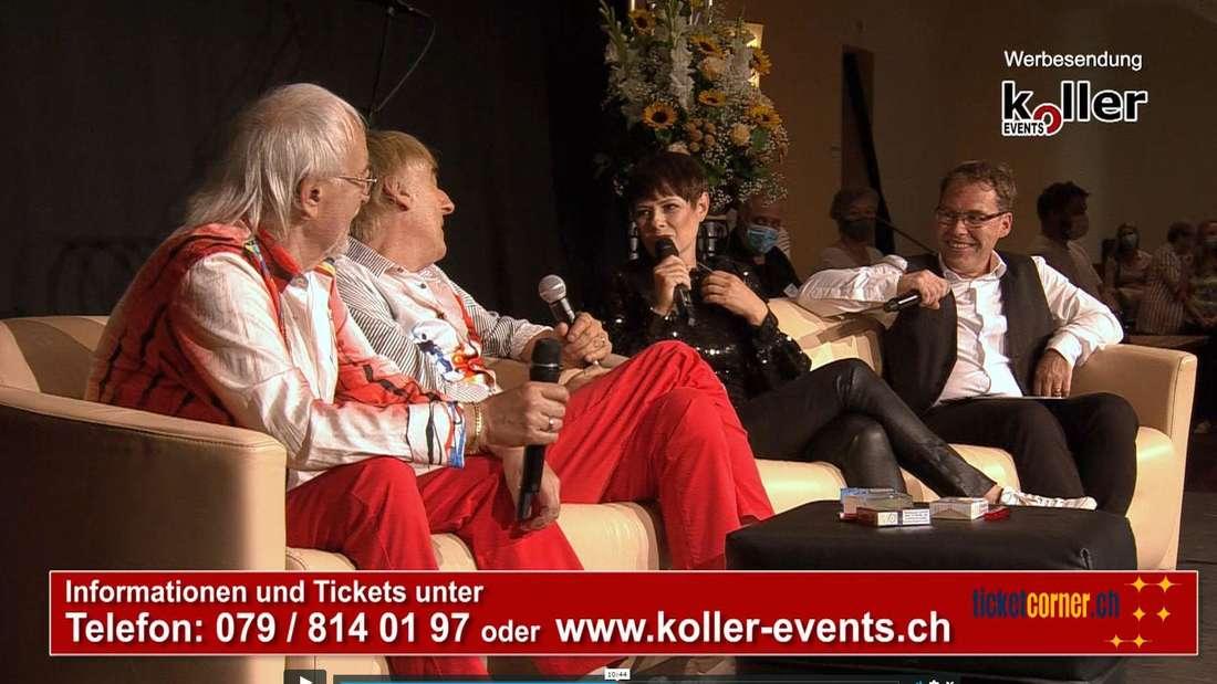 Francine Jordi talkte mit den Amigos auf der Bühne.
