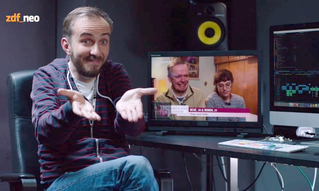 Der Screenshot zeigt Moderator Jan Böhmermann in einer Szene der Sendung «Neo Magazin Royale» vom 12.05.2016.