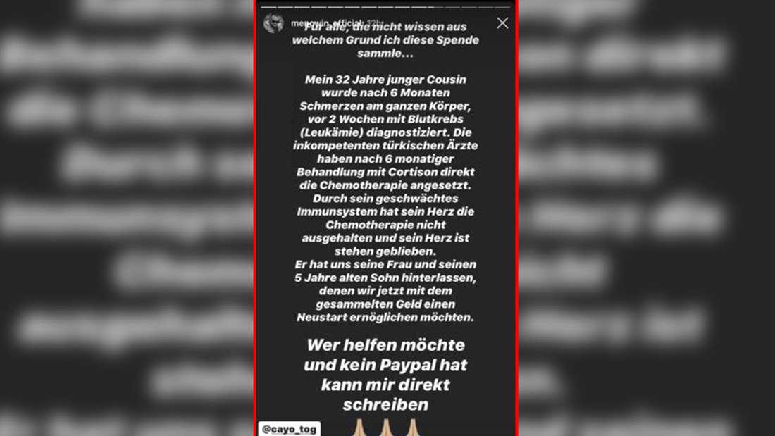 Menowin Fröhlich spricht auf Instagram offen über ein Todesdrama in der Familie und bittet seine Fans um Unterstützung.