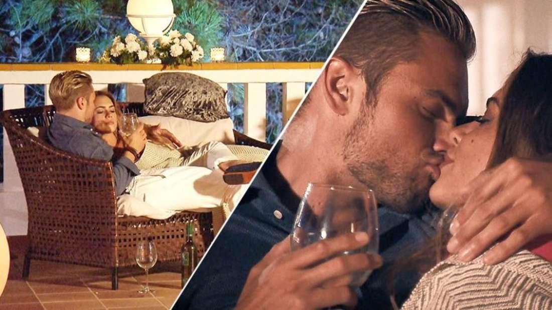 Johannes und die Bachelorette küssen sich