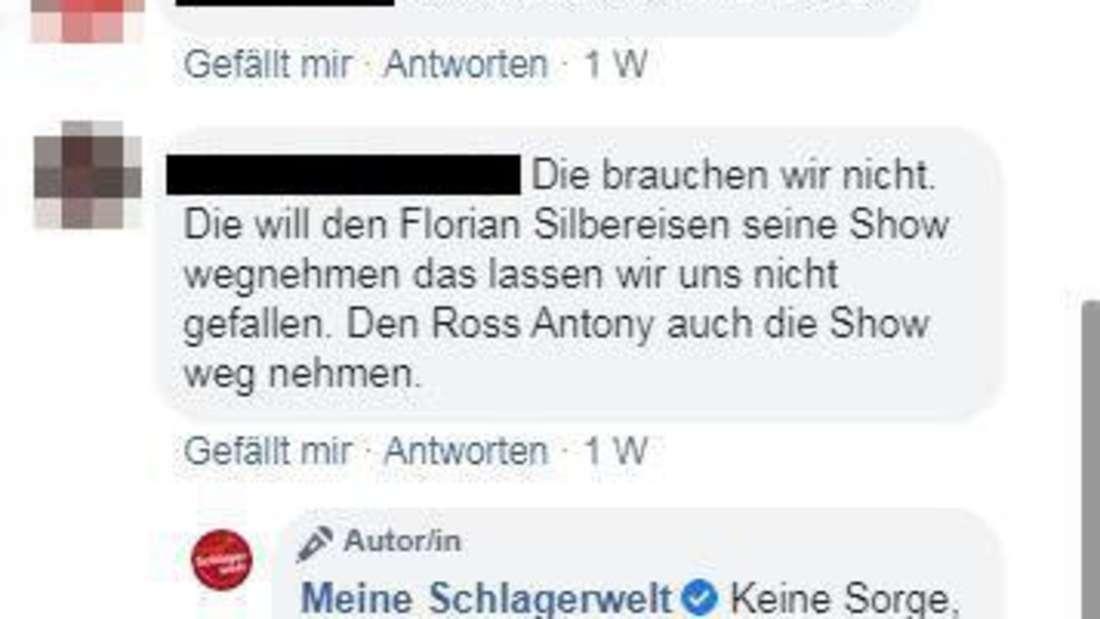 Das Bild zeigt die Kommentarspalte einer Facebookseite
