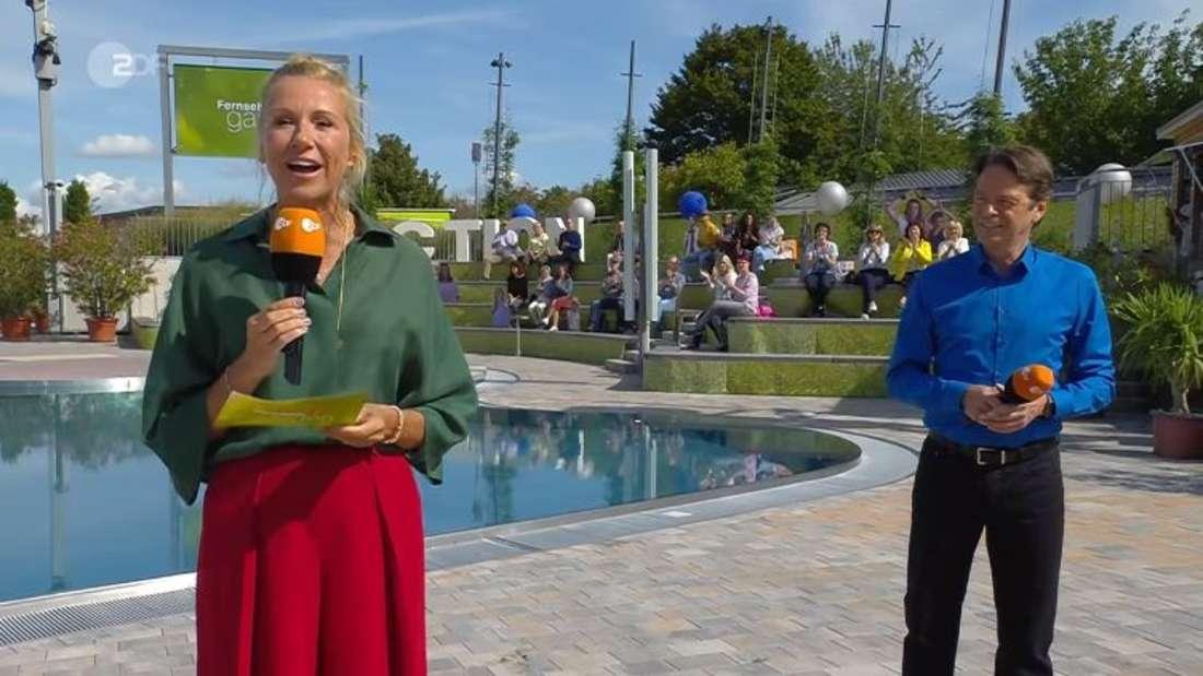 Andrea Kiewel und Rudi Cerne im ZDF-Fernsehgarten.