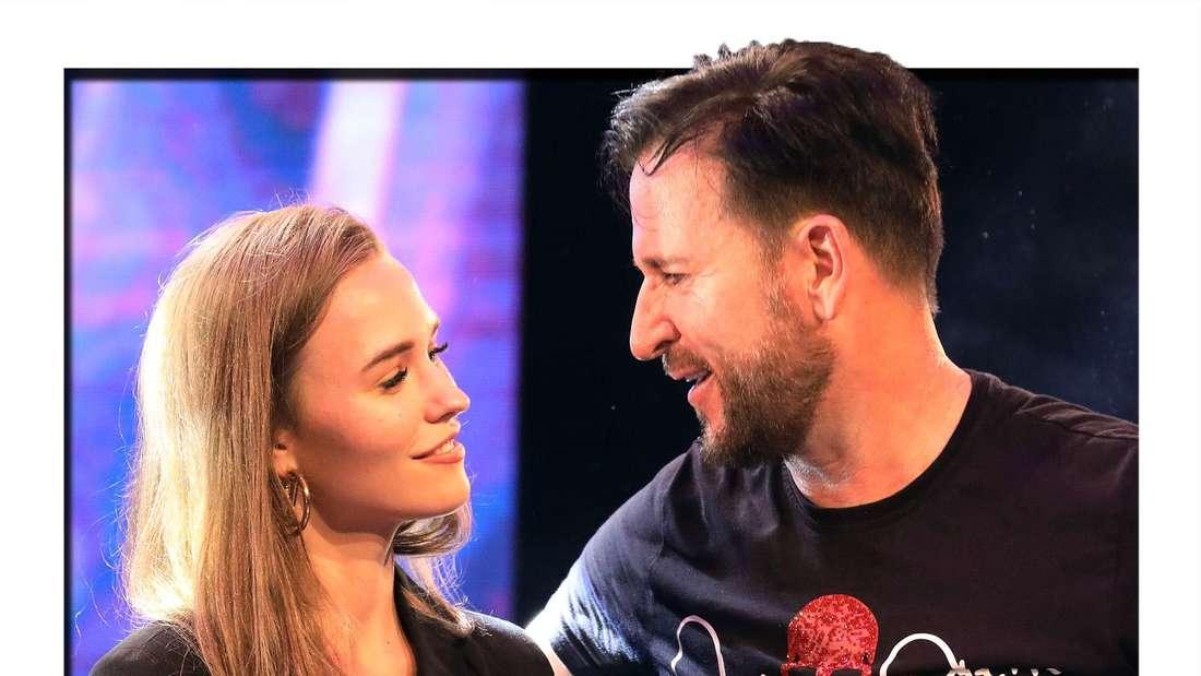 Michael Wendler, Schlagerstar, und seine Freundin Laura Müller stehen bei der Veranstaltung «Live in Concert XXL» in der Turbinenhalle auf der Bühne.